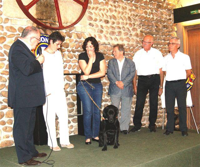 Participation au financement d'un chien guide à Saint-Vallier et Saint-Rambert