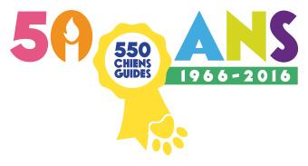 Logo 50 ans des chiens guides