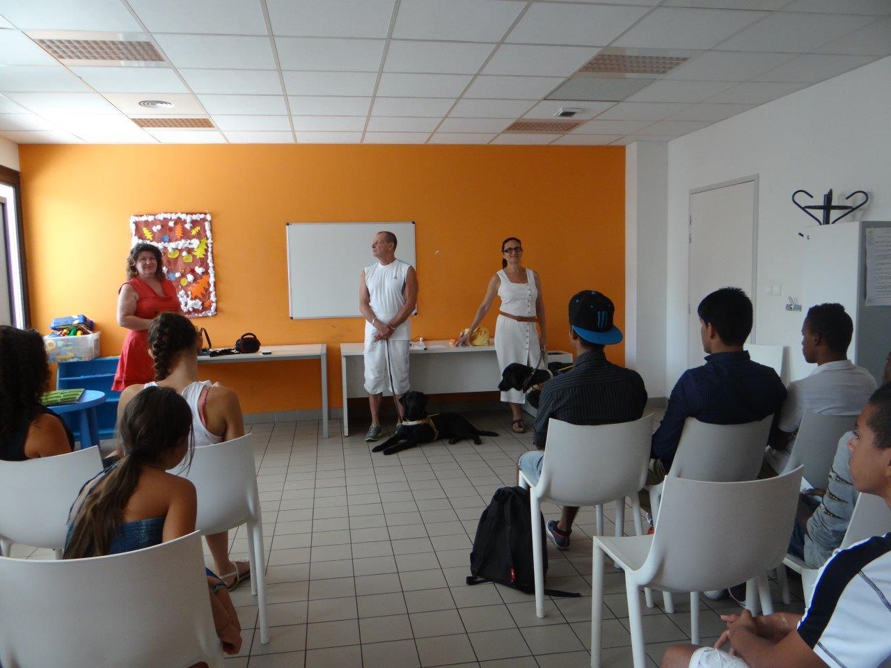 Sensibilisation au handicap dans les centres sociaux du Var