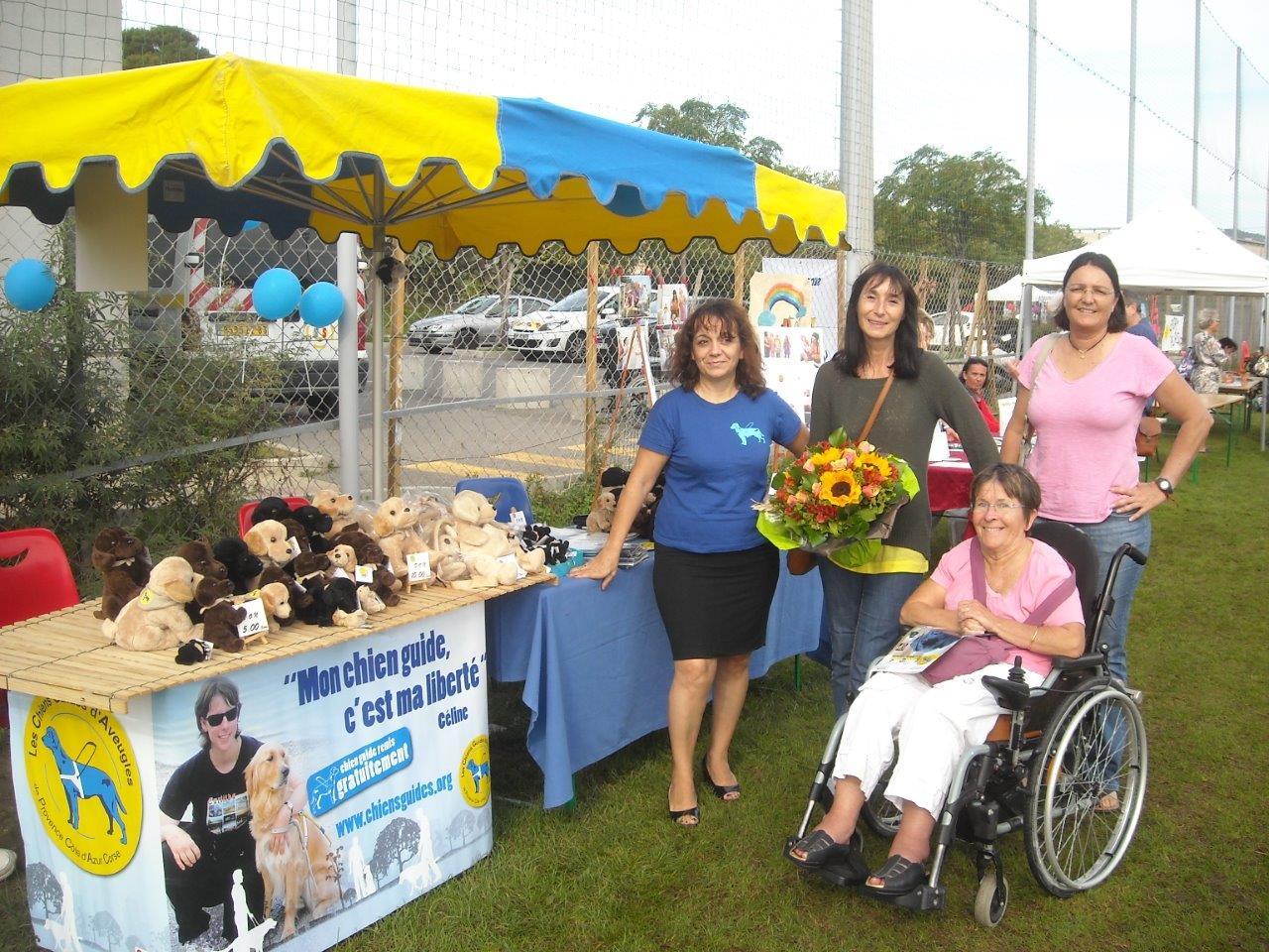 Rencontre avec l'élue au handicap de la Seyne-sur-Mer à l'occasion de la manifestation Handi-Seyne.